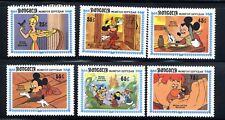 1984 Mongolia Disney   6-STAMP  Disney Mickey Donald Duck MNH
