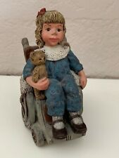 """Sarah'S Attic """"Special Girl"""" Resin Figurine Of Girl In Wheel Chair Signed*"""