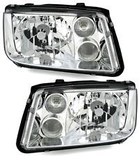 Clear chrome finish Headlights PAIR for VW BORA 98-05 with fog lights H4 H3