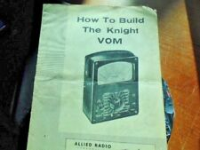 Knight VOM original manual. ham radio.