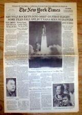1981 NY Times newspaper TOM WATSON WINS MASTERS GOLF CHAMPIONSHIP Joe Louis Dead