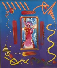 Peter Max Statue of Liberty mixed media and acrylic 911 art