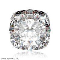 4.11ct F-VS2 Ideal Cut Square Cushion AGI 100% Genuine Diamond 9.65x8.62x6.25mm