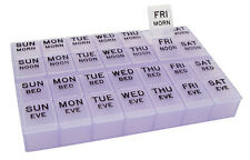 Carex Mediplanner II Secure 7-Day Pill Container #70013 Color May Vary