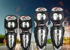 Aluminium Knee Elbow Shin Pads Armour Guard Motocross Motorcycle Bicycle Skate