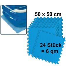 Pool Bodenmatte 3x8er Pack 6 m² 50x50cm blau Bodenschutz Unterlage Planschbecken