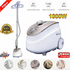 Heavy Duty Stand Garment Steamer Clothes Fabric Steamer 11 Steam Levels 1800W US
