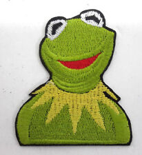 19614 Kermit Frog Head Muppet Jim Henson Green Embroidered Sew Iron On Patch