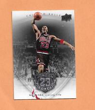 MICHAEL JORDAN UPPERDECK LEGACY 09/10  CARD # 46 BLACK UNIFORM