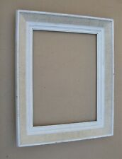 Blanc Cadre photo en bois massif Handmade Wall Hanging ficelle Vintage Rustique