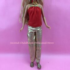 BARBIE DOLL CLOTHES High School Musical HSM Sharpay Red Gold Skipper Outfit K32
