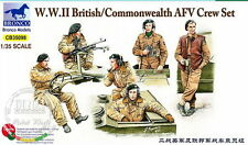 Bronco Model kit 1/35 WWII British/Commonwealth AFV Crew Set (incl. 6 Figures)