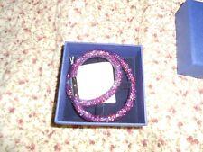 Nib Swarovski starduct double wrap bracelet plum small