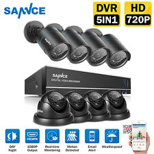 SANNCE 1500TVL IR Outdoor CCTV Home Security Camera System 8CH 1080N HDMI DVR