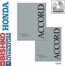 2008 2009 2010 2011 2012 Honda Accord Shop Service Repair Manual CD 4 Cylinder