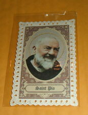 10-ST SAINT PADRE PIO Cardstock Holy Cards New Vintage Style Italy