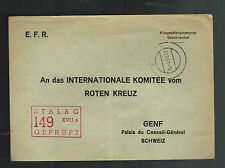 1941 Stalag 149 Germany Prisoner of War POW Camp Cover to Red Cross Switzerland