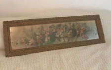 Vtg Antique Yard Long Picture Print Floral Flower Arrangement Grace Barton Allen