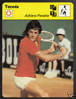 ADRIANO PANATTA Italian Tennis Player Photo 1978 SPORTSCASTER CARD 28-14