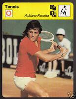 ADRIANO PANATTA Italian Tennis Player Photo 1978 SPORTSCASTER CARD 28-14
