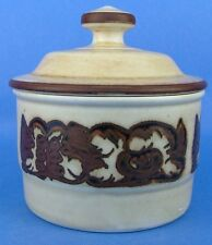 Porsgrund Norway Troll Brown Tan Sugar Bowl w/ Lid