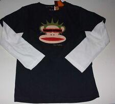 PAUL FRANK Boy's NAVY BLUE 'Punk Julius' L/S Slider TEE Shirt SZ 4 NWT $28