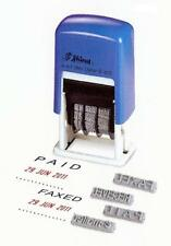 SHINY SELF INKING PAID RECEIVED FAXED EMAILED DATE DATER 4 WORD RUBBER STAMP