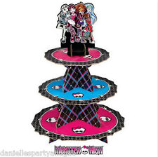 Monster High 3 Tier Cupcake / Treat Stand Decoration - 1512-6677