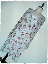 No Comment Gray & Pink Floral Rose V Neckline Bell Sleeve Knit Shift Dress 2X