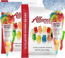Albanese Gummi Bears 2 - 5 POUNDS 12 Flavor + 2 Gourmet Kruise® Gummy Sour Worms