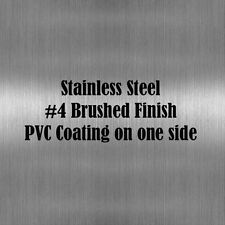 "9"" x 12"" Stainless Steel Sheet Metal .037"" Thick(20 gauge) #4/Brushed Finish"