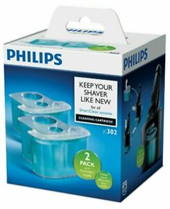 2pk Philips JC302-51 Smart Clean System Cleaning Cartridge for Shaver Heads