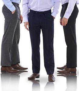 Men's Single Pleat Stormwear Smart Formal Pants Wool Active Waist Trousers