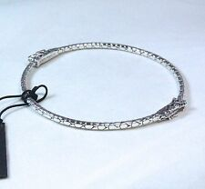John Hardy Dragon Bangle Bracelet Sterling Silver Size Medium $395 NWT