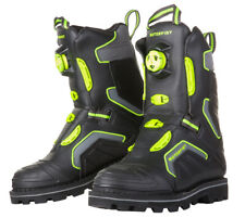 NIB - MOTORFIST Men's 'STOMPER BOA' Black/Green SNOWMOBILE BOOTS - US 10
