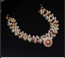 Indian Wedding Bridal Rani Colour Borla Matha Patti Head Chain Mang Tika Jewelry