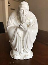 12'' Dehua White Porcelain Blanc De Chine Chinese philosopher Confucius statue