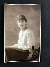 Vintage Real Photo Postcard: People #B970 Young Woman: Signed: Taken Bristol