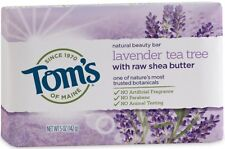 Tom's of Maine Bar Soap With Raw Shea Butter, Lavender Tea Tree 5 oz