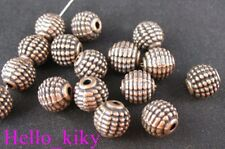 40Pcs Antiqued copper plt detail carved ball spacers A79