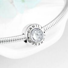 SOLID Sterling Silver Round FAMILY FOREVER Heritage Charm by Pandora's Wish