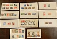 RARE SOVIET USSR RUSSIA STAMP LOT ON APPROVAL SHEETS. WORLD WAR 2 SETS SUB SETS