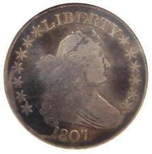 1807 Draped Bust Half Dollar 50C Coin - Certified ANACS VG8 - Rare Coin!