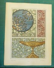 Gui lithographie Hervegh art nouveau fin XIXe siècle Plantes Ornement Grasset