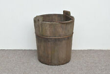 old vintage wooden rice bucket / well water/ planter / pot - FREE DELIVERY