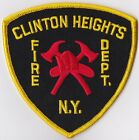Clinton Heights Fire Dept. NY Firefighter Patch
