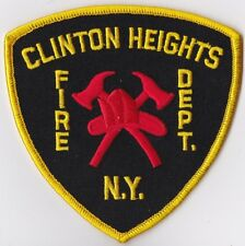 Clinton Heights Fire Dept. NY Firefighter Patch NEW!!