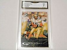 Drew Brees GRADED ROOKIE!!! 2001 Press Pass #2 Saints MVP!! %7-1