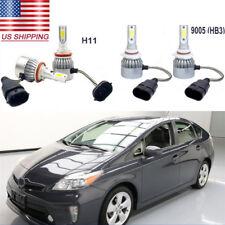4Pcs 72W 12V White COB LED Headlight Hi/Lo Beam Bulbs Kit For Toyota Prius 10-15