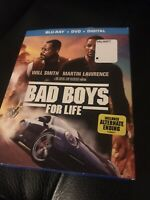 Bad Boys for Life Blu-ray + Slipcover Opened Never Watched Used Digital Code